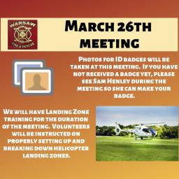 Landing Zone Training Tonight!